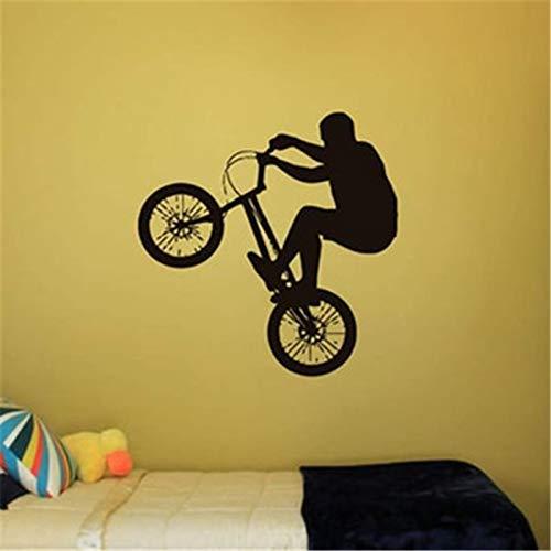 Quszpm Pegatinas de Pared de Vinilo para decoración de Dormitorio calcomanías de Dibujos Animados Bicicleta niña niño Adolescente habitación calcomanía decoración del hogar 80x82 cm