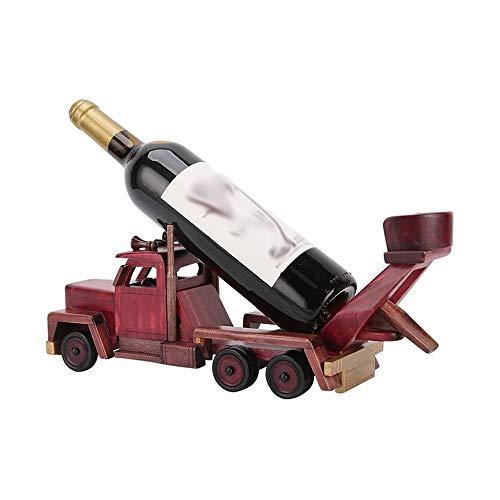 DAGONGREN Creativo de Madera de Estilo Botella de Vino del Estante del Vino Vino titulares Display Stand Bar Almacén Organizador Bastidores