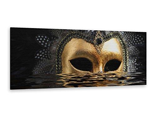 Alu-Dibond Bild ALP12500369 Bild VENEZIANISCHE MASKE 125 x 50cm Butlerfinish® Edel gebürstetes Wandbild, Metall effekt Eyecatcher!