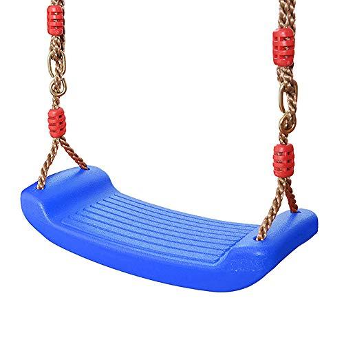 Schaukelsitz aus Kunststoff, mit Höhenverstellbar Seil chaukelsitz für kinderschaukel,für Kinder Outdoor- und Indoor-Garten (blau)