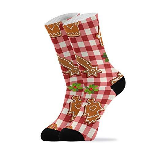 Crew Socks Merry Christmas Lebkuchenmann Kissen Komfort Laufen Sport Crew Socken für Herren Damen 2020162