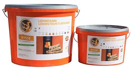 Lehmstreichputz, natürlich unpigmementiert, Trockenpulver, 3 KG, Reichweite 18 - 24 m2, allergikerfreundlich … (schneeweiß)