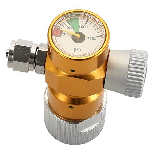 Chenbz Regulador de Omnibus de 1500PSI CO2 Ajustable para el medidor de presión del Tanque del Cartucho de CO2 - Oro