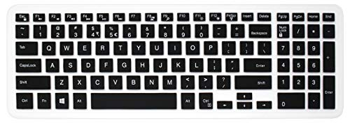 Silicone Dell Keyboard Cover Skin for 15.6' Dell Inspiron 15 3000 5000 7000 Series; 15.6 inch Dell G3 G5 G7 Series; 17.3' Dell Inspiron 17 5000 Series; 17.3' Dell G3 Series (with Numeric Keypad) Black