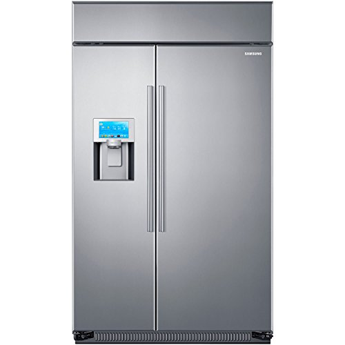 SAMSUNG RS27FDBTNSR Built-in Side by Side Refrigerator, 48-Inch, Stainless Steel
