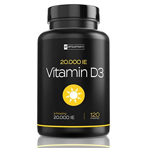 Vitamin D3 20.000 i.e Depot - 20 Tagesdosis 1000 ie pro Tag - Vitamin D 3 20000 Hochdosiert - Sonnenvitamin Cholecalciferol Kapseln - Vegetarisch Lanolin - 6,5 Jahresvorrat