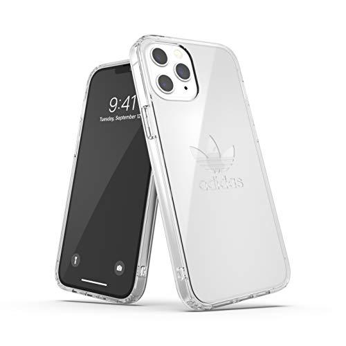 adidas Funda diseñada para iPhone 12 Pro MAX 6.7, Transparente a Prueba de caídas, Bordes elevados, Carcasa Original Snap Case Cover Transparente