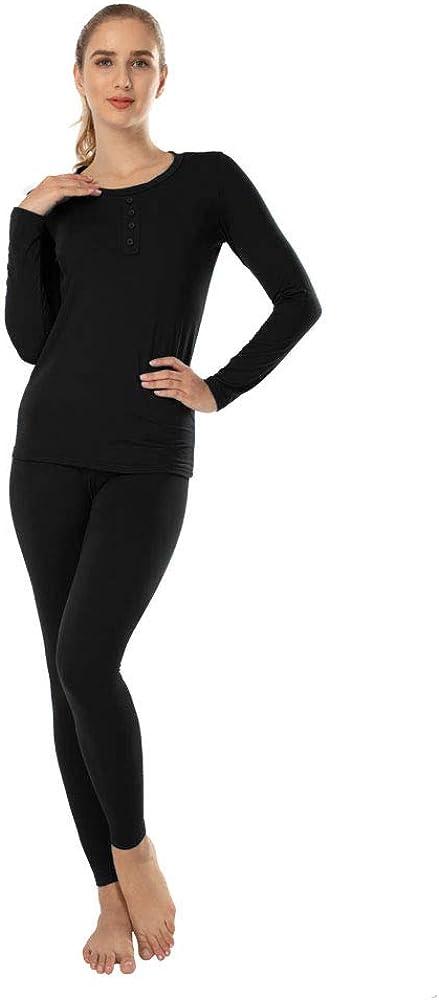 MANCYFIT Thermal Underwear for Women Fleece Lined Long Johns Set Ultra Soft Top & Bottoms