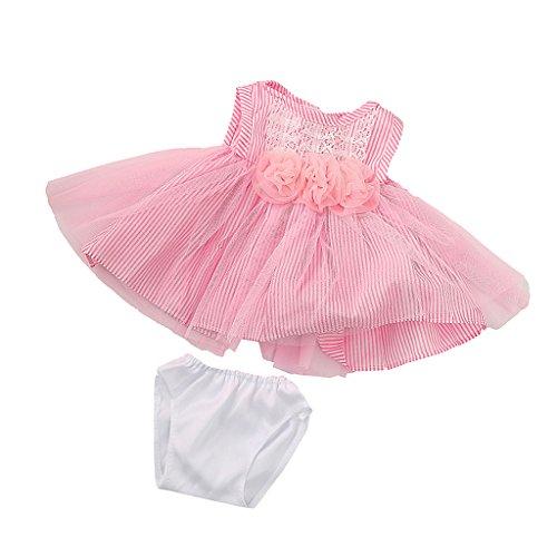 MagiDeal Vestido Falda de Encaje Flores Rayas con Ropa