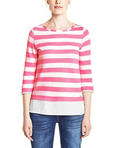 Cecil Damen 313082 Astrid T-Shirt, Bubblegum pink, Medium(Herstellergröße:M)
