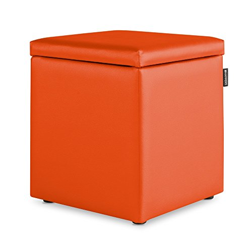 HAPPERS Puff Cubo Arcon Polipiel Indoor Naranja