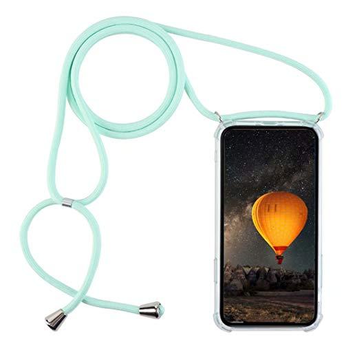 YFXP Kompatibel mit Motorola Moto One Hyper Hülle TPU Silikon Hülle mit Kordel zum Umhängen Necklace Handy.