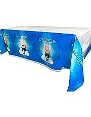 مفرش مائدة حفلات أعياد الميلاد بتصميم شخصية طفل صغير من NB عدد 2 قطعة | 70.8 × 42.5 بوصة | غطاء طاولة الحفلات للصغار لرئيس الطفل الصغير