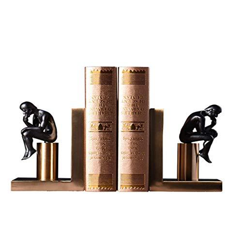 Desktop-Skulptur Moderner minimalistischer Stil Denker Ornamente Studie Bücherregal Bücherregal Bücherstützen Einrichtungsgegenstände Büro Partition Kabinett Dekorationen