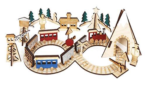 Bouw als je gaat adventskalender - Noordpool treinstation