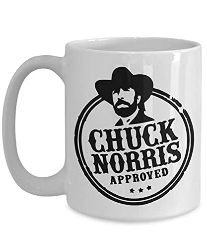 N\A Taza de cerámica Divertida Chuck Norris aprobada E6SW7Z