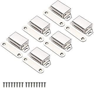 """Best Mousike Cabinet Magnets 25lb Stainless Steel Magnetic Door Catch with Strong Magnetic for Kitchen Cupboard Wardrobe Closet Cabinet Door Drawer Latch(2.1""""25 lbs(6 Pack)) Review"""
