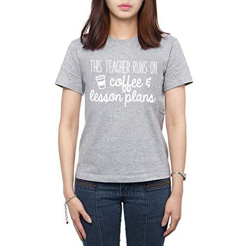 HNKPWY La Camiseta Casual de Las Mujeres Corre en el café La Vida del Profesor Soft Tops