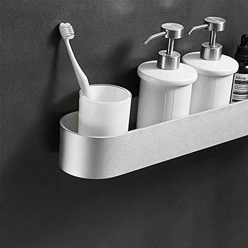 Estante para inodoro sin perforaciones, estante para guardar toallas de tocador de baño negro montado en la pared, baño, estante de cocina-Mate 50CM 50 * 9 * 6cm