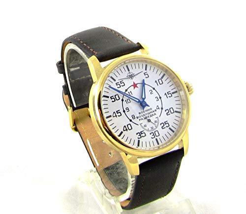 Pobeda Aviator Mens Vintage Wrist Watch Vintage 1960s USSR Rare Serviced Zim (Classic Brown Strap)