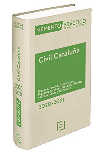Memento Civil Cataluña 2020-2021: Persona, Familia, Sucesiones, Personas Jurídicas, Derechos Reales, obligaciones y contratos