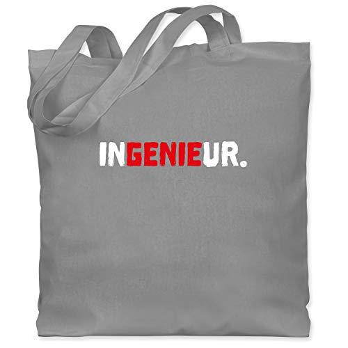 Shirtracer Beruf und Job Geschenke - InGENIEur rot - Unisize - Hellgrau - Geschenk - WM101 - Stoffbeutel aus Baumwolle Jutebeutel lange Henkel
