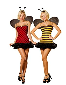 Dreamgirl Women s Reversible Bumble Bee/Lady Bug Costume Multi Small