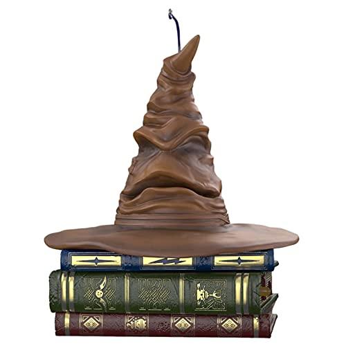 Lrxinki Harry Potter Talking Hat, 12cm Choixpeau Magique Interactif Qui Bouge Et Parle, Décoration De Noël De Chapeau De Tri Harry Potter, Chapeau De Tri De Harry Potter Brown (Silencieux)