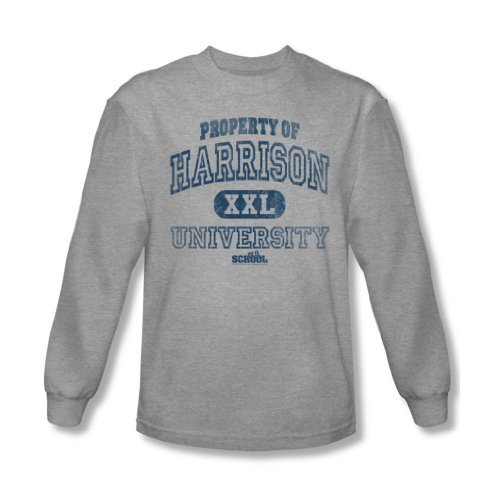 Old School - - Propriété des hommes de Harrison shirt manches longues En Heather, Large, Heather