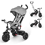 besrey Dreirad 4 in 1 Kinderdreirad Dreirad für Kinder Tricycle mit...