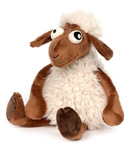 Sigikid Schaf - Crazy Sheep, BeastsTown, Kuscheltier für Erwachsene und Kinder, weiß/braun, 39338