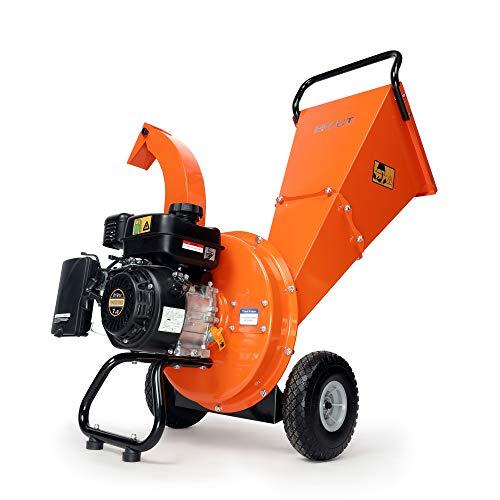 EFCUT C30 Wood Chipper Shredder Mulcher 7 HP 212cc Heavy Duty Engine Gas Powered 3 inch Max Wood Diameter Capacity Reduction Rate 20:1 2-Year Warranty, EPA/CARB Certified