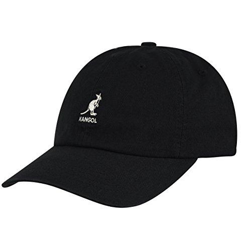 Kangol Unisex Washed Baseball Cap, Schwarz (Black BK001), One Size