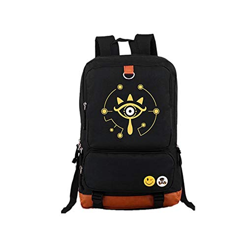 Dailygocn Zelda Backpack Sheikah Eye Luminous School Bag Large Capacity Travel Bag Cosplay Shoulder Bag for Cosplay Costume