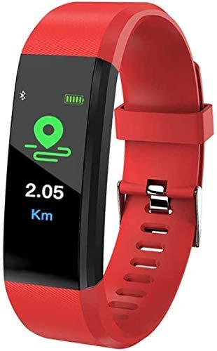 Reloj deportivo con pantalla de color para hombre, mujer y niña (color: D) exquisito/D-rojo