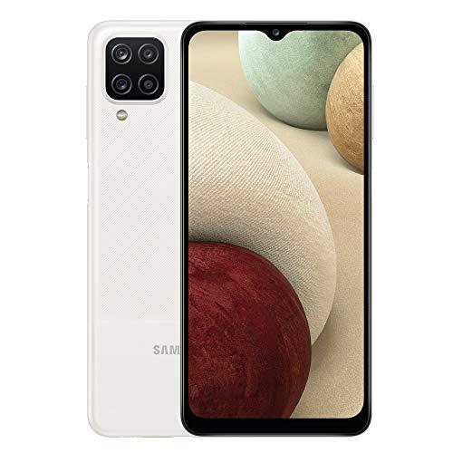 Samsung Galaxy A12 Android Smartphone ohne Vertrag, 4 Kameras, großer 5.000 mAh Akku, 6,5 Zoll HD+-Display, 64 GB/4 GB RAM, Handy in Weiß, Deutsche Version