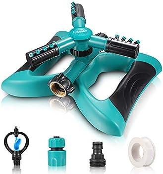 Gesentur Automatic 360 Rotating Adjustable Lawn Sprinkler (Grass Green)