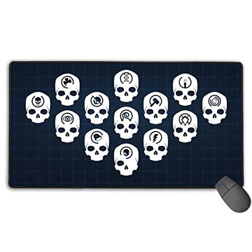 Large Mouse Pad XL,Halo Skulls Design Extended Gaming Mouse Pad Mat Desk Pad Non-Slip Rubber Mousepad with Stitched Edges 40x75 cm