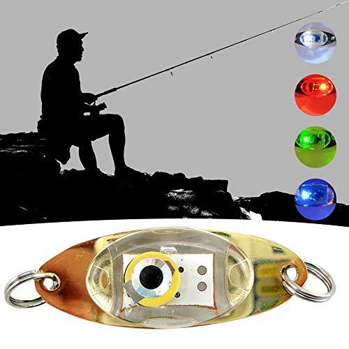 perlo33ER Augenform Nachtfischen Unterwasser Fischköder LED Blinklicht Angelgerät Outdoor Sports Fishing Bait Kit Mehrfarbig