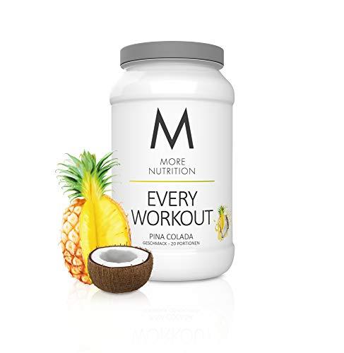 MORE NUTRITION Every Workout (1 x 700 g Pulver) - Fitness Booster mit Creatin für mehr Power und Pump beim Krafttraining (Pina Colada)