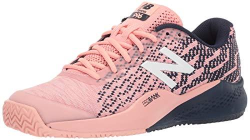 New Balance Women's 996 V3 Clay Tennis Shoe, Pink/Pigment, 5.5 D US