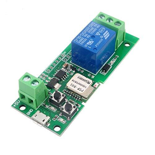 MHCOZY Modulo di relè Wireless Smart Switch wireless aggiornato, impostazione del tempo di Inching da 0,5 secondi a 1 ora, da applicare al controllo di accesso, Utilizzo dell'assistente Alexa (5V)