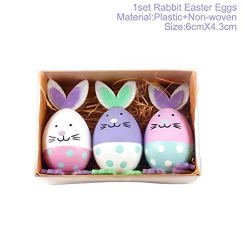 Rustique En bois Pâques Bunny Rabbit Hanging Sign Blanc ou Rose