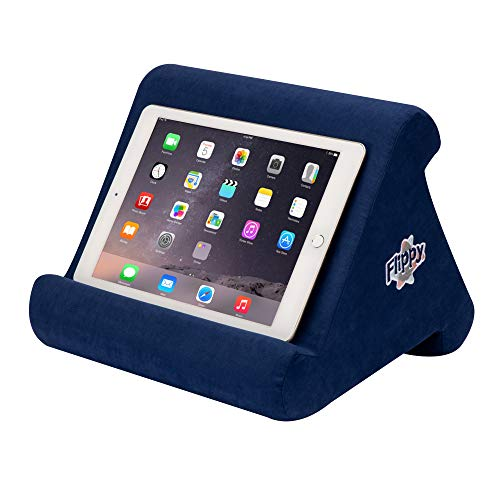 Flippy Multi-Angle Soft Pillow Lap Stand for iPads, Tablets, eReaders, Smartphones, (True Blue)