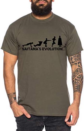 Saitama Evolución Camiseta de Hombre Saitama Punch One Anime Manga