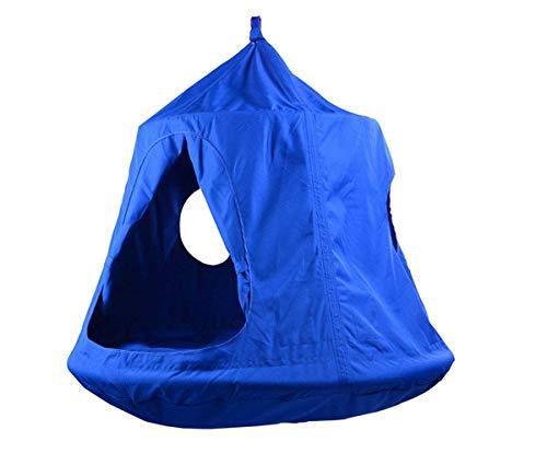 WYDML Hangboom Plafond Hangmat Tent Swing Kids Sky Castle Paradise Led Decoratie Lichten Waterdicht Blauw