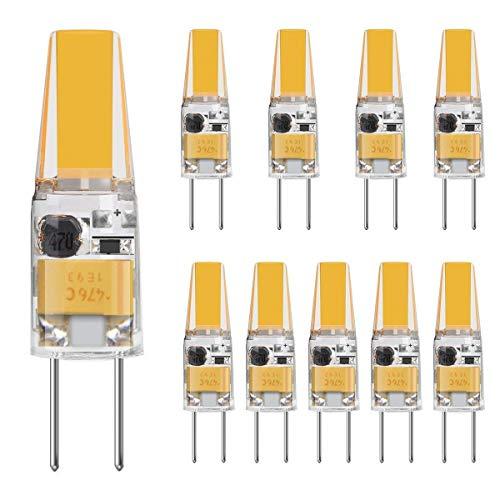 TINS 10 X G4 3W LED Lampen,4500K Naturweiß 250LM LED Bi-Pin-Lampe,250 Lumen G4 LED 4500K AC/DC 12V,Nicht-Dimmbar,CRI: RA> 80,LED Birnen, LED Leuchtmittel (COLDWHITE)