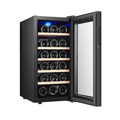 BUDBYU Réfrigérateur à vin, Petit réfrigérateur de Refroidisseur de vin de Zone Unique, Noir pour la Barre ou Le Bureau à la Maison