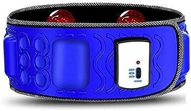 حزام تدليك وتخسيس كهربائي محمول يعمل بالاهتزاز للياقة البدنية وحرق الدهون للبطن المترهل