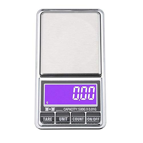 Báscula electrónica recargable de 1000g báscula de joyería de alta precisión mini báscula electrónica báscula de bolsillo USB portátil